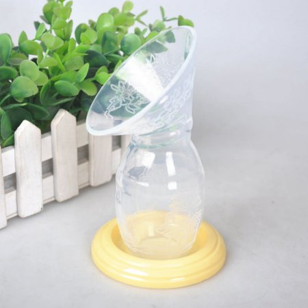 SNHENODA Silicone Breastfeeding Manual Breast Pump Baby Feeding Milk Saver Suction Bottle Feeding Accessories