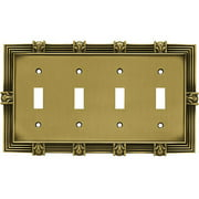 Franklin Brass Pineapple Quad Switch Wall Plate, Available in Multiple Colors