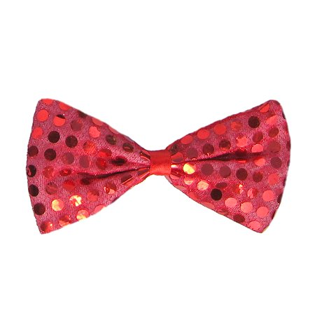 SeasonsTrading Red Sequin Bow Tie Costume Party Accessory
