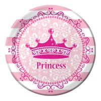 Pink Princess Royalty 7 inch Lunch Plates,Pack of 8 EA