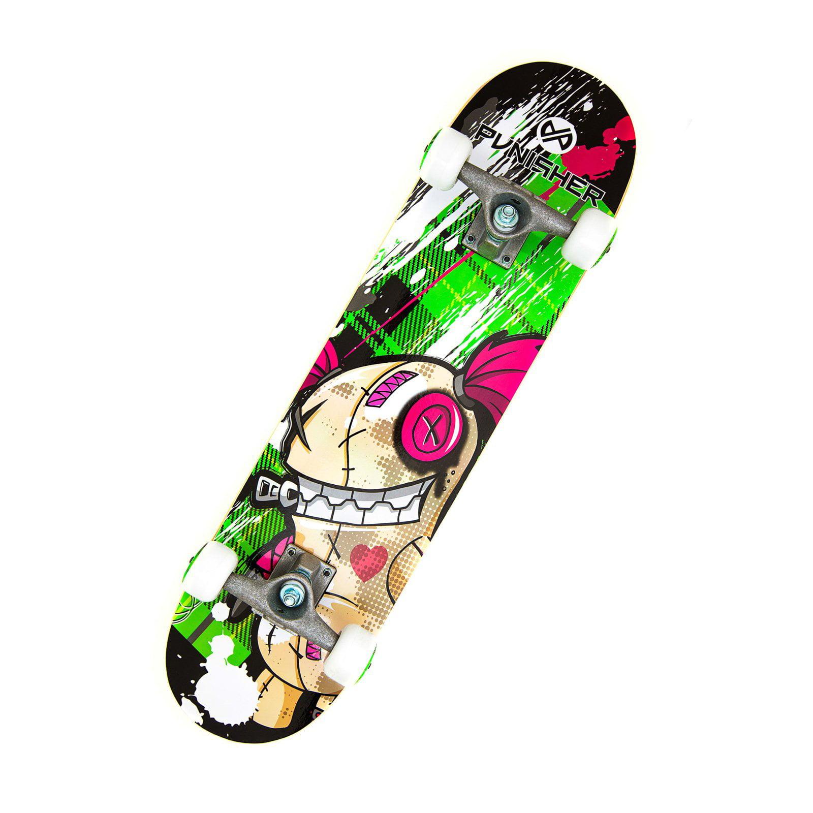 """Punisher Skateboards Jinx 31.5"""" ABEC-7 Complete Skateboard"""