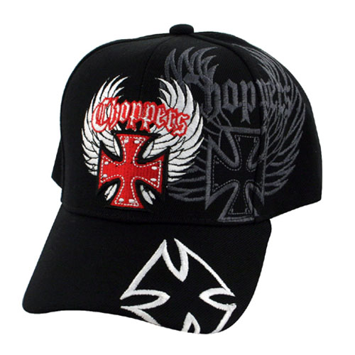 Zan Headgear 3-D Embroidered Black Cap Tribal Skull CPA133