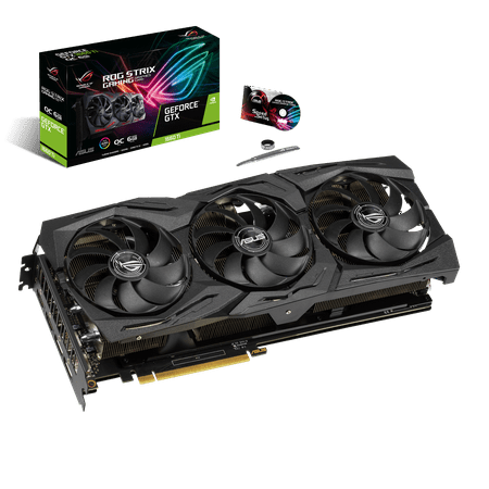 ASUS ROG Strix GeForce® GTX 1660Ti 6GB Overclocked Edition VR Ready HDMI 2.0 DP 1.4 Auto-extreme Graphics card Asus Gddr3 Graphics Card