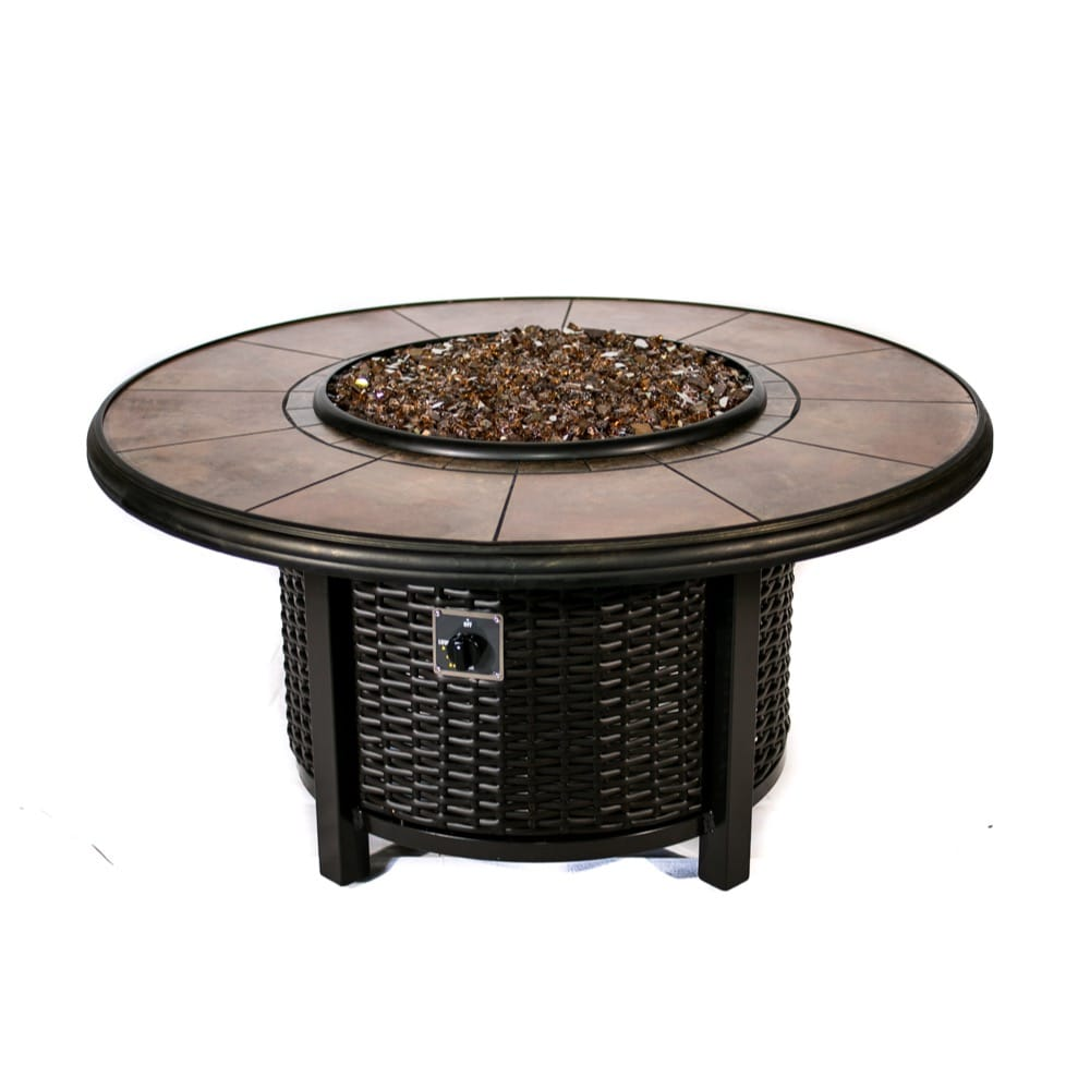 39 inch Round Wicker Fire Pit