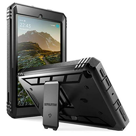 Poetic All-New Fire 7 Tablet Case (9th Gen, 2019 Release), Full-Body Shockproof Protective Cover with Kickstand, Built-in-Screen Protector, for Amazon Fire 7 Inch Tablet 9th Generation,