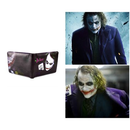 Superheroes DC Comics Batman The Joker Heath Ledger Bi-fold Mens Boys  Wallet with Gift Box