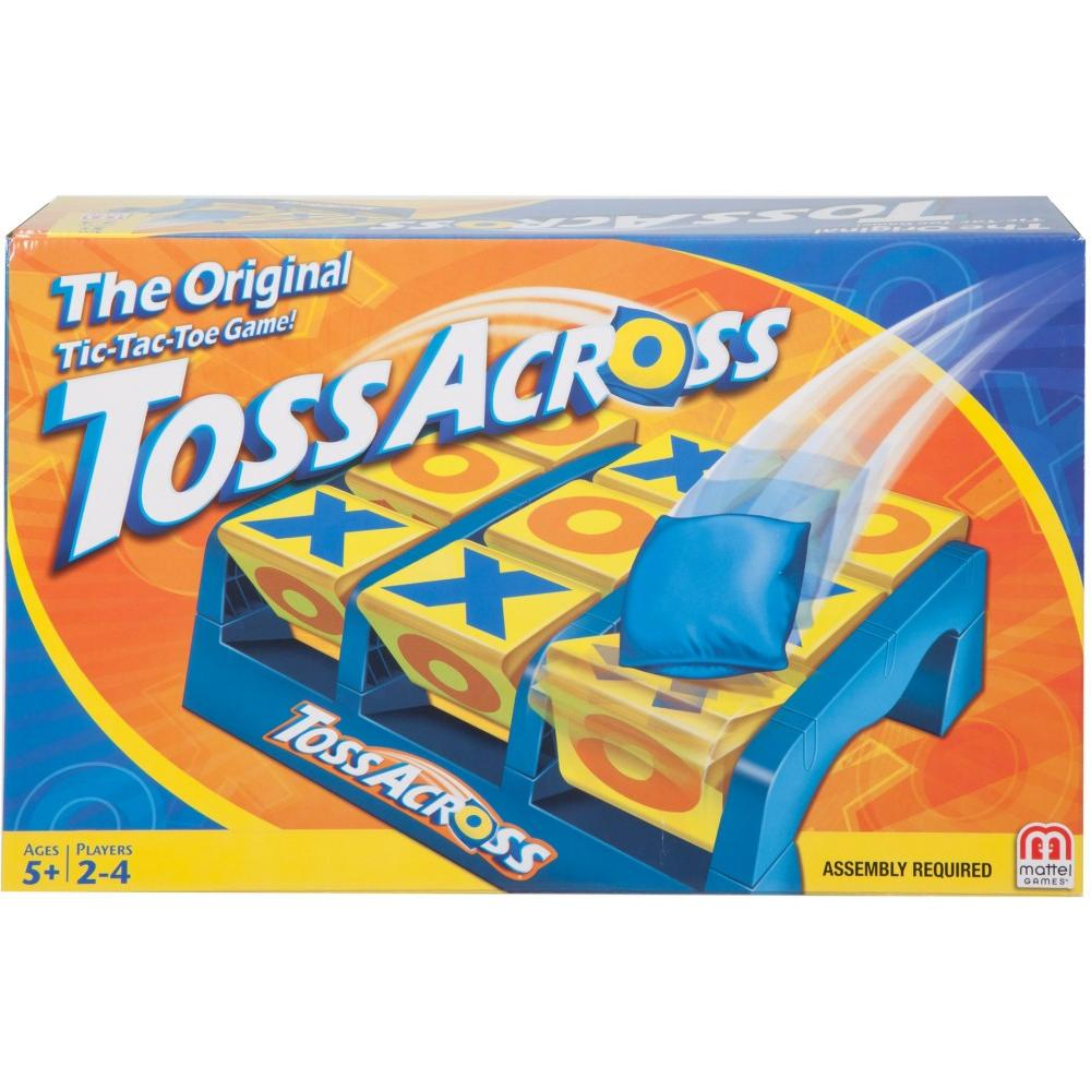 Toss Across Game, Beanbag Tic Tac Toe for 2 to 4 Players Ages 5 Years and Older by Mattel