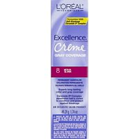 L'Oreal Excellence Creme Permanent Hair Color, Medium Blonde #8, 1.74 oz
