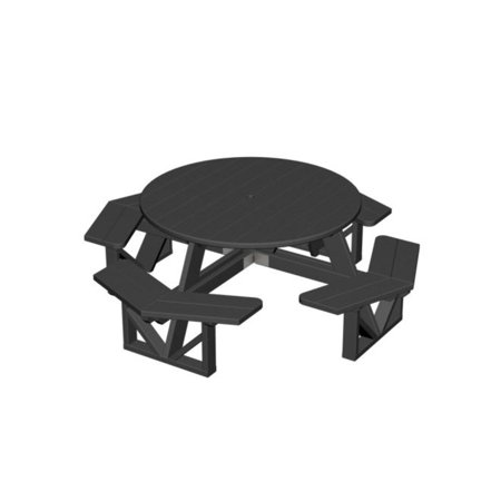 Eco Friendly Furnishings Patio Octagon Picnic Table Black