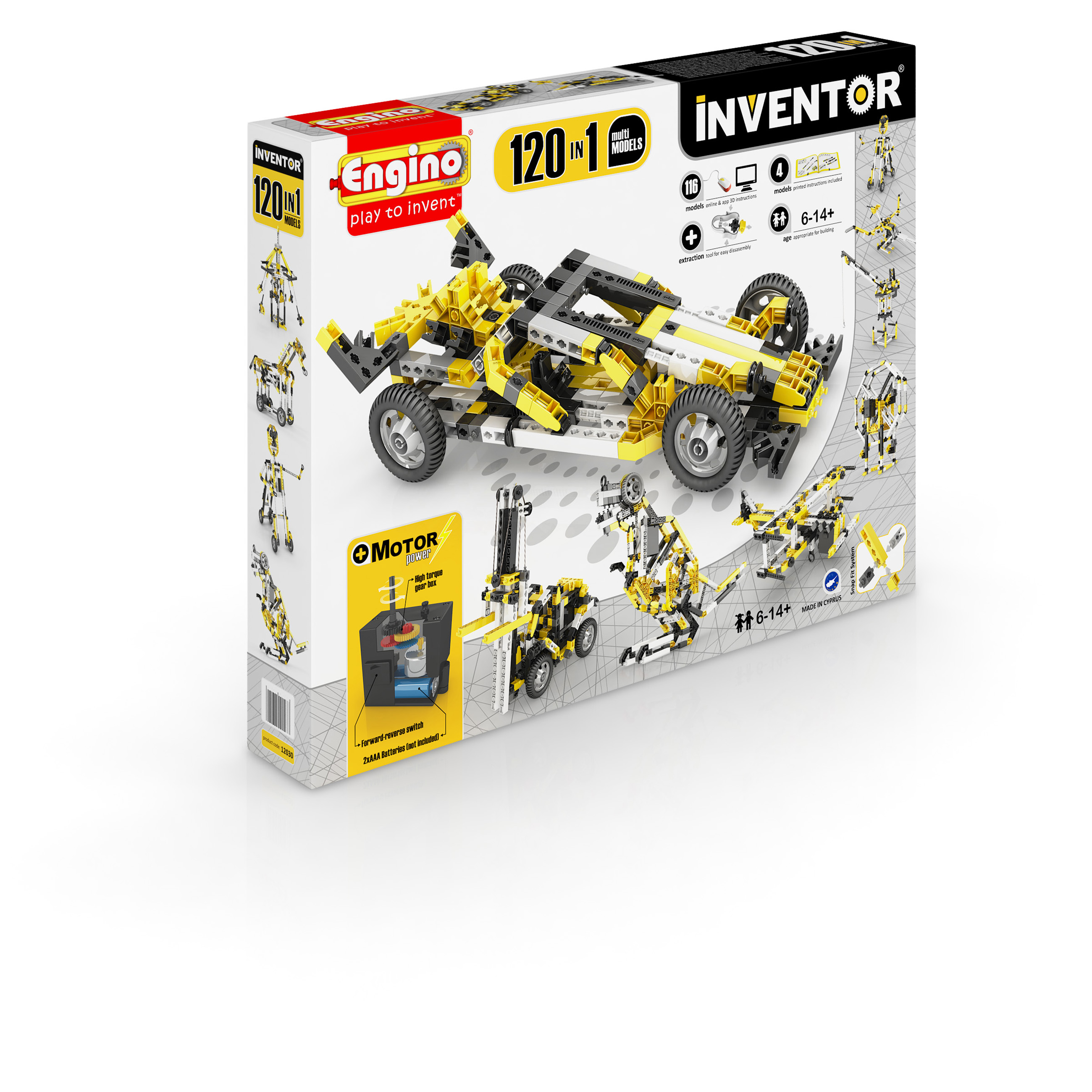 Engino Inventor 120 in 1 Models Building Motorized Set Multi Models by Engino