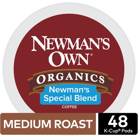 Newman's Own Organics Special Blend Coffee, Keurig K-Cup Pod, Medium Roast, 48ct