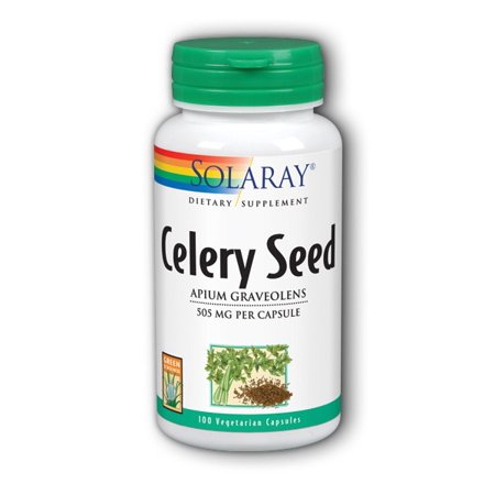Solaray Celery Seed 505 mg - 100 Capsules Celery Seed Power Natures Herbs