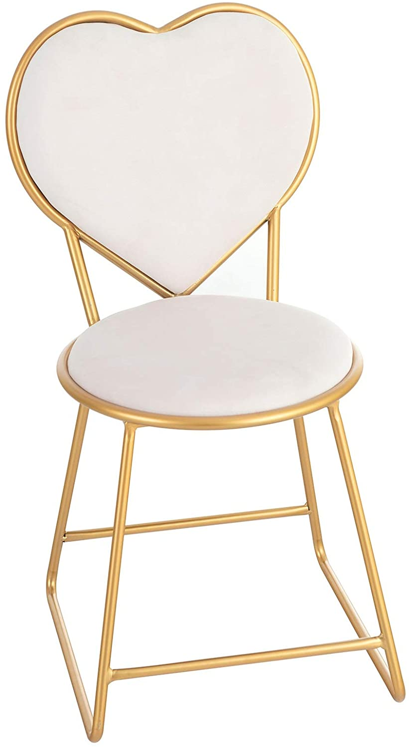 Mecor Vanity Stool With Cushioned Back Makeup Dressing Bench Gold Metal Legs Microfiber Upholstery Padded Vanity Seat White Walmart Com Walmart Com