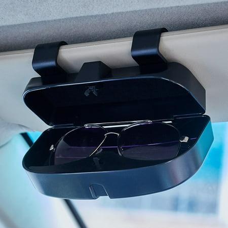 Car Sun Visor Glasses Case Organizer Glasses Storage Box Holder Visor Sunshade Pockets Auto Accessories (Car Storage Case)
