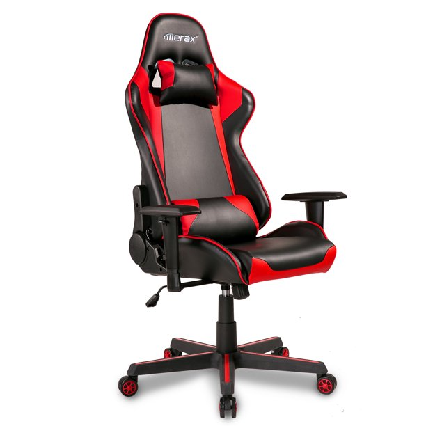 Clearance!Gaming Chair, Ergonomic Computer Chair with Arms, PU