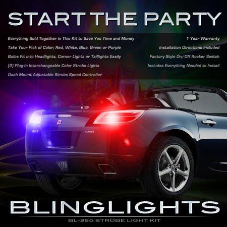 Saturn Sky Strobe Lights Kit for Taillamps Headlamps Taillights Headlights Tail Head Lamps Strobes