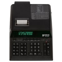 Top of the Line Monroe UltimateX Heavy Duty 12-Digit Print/Display Printing Calculator (Calculator, Black)