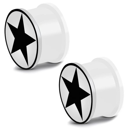 Glow in the Dark Soft Silicone Full All Star Saddle Ear Plugs, Pair - Glow In The Dark Ears