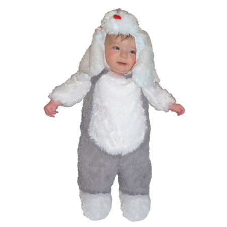 Totally Ghoul Toddler Boys Plush Gray & White Puppy Dog Costume - Dog Costume Toddler