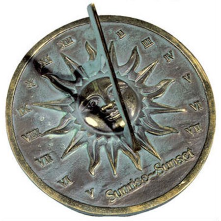 Rome Rome Brass Sunrise Sunset Dial - Solid Brass With Verdigris