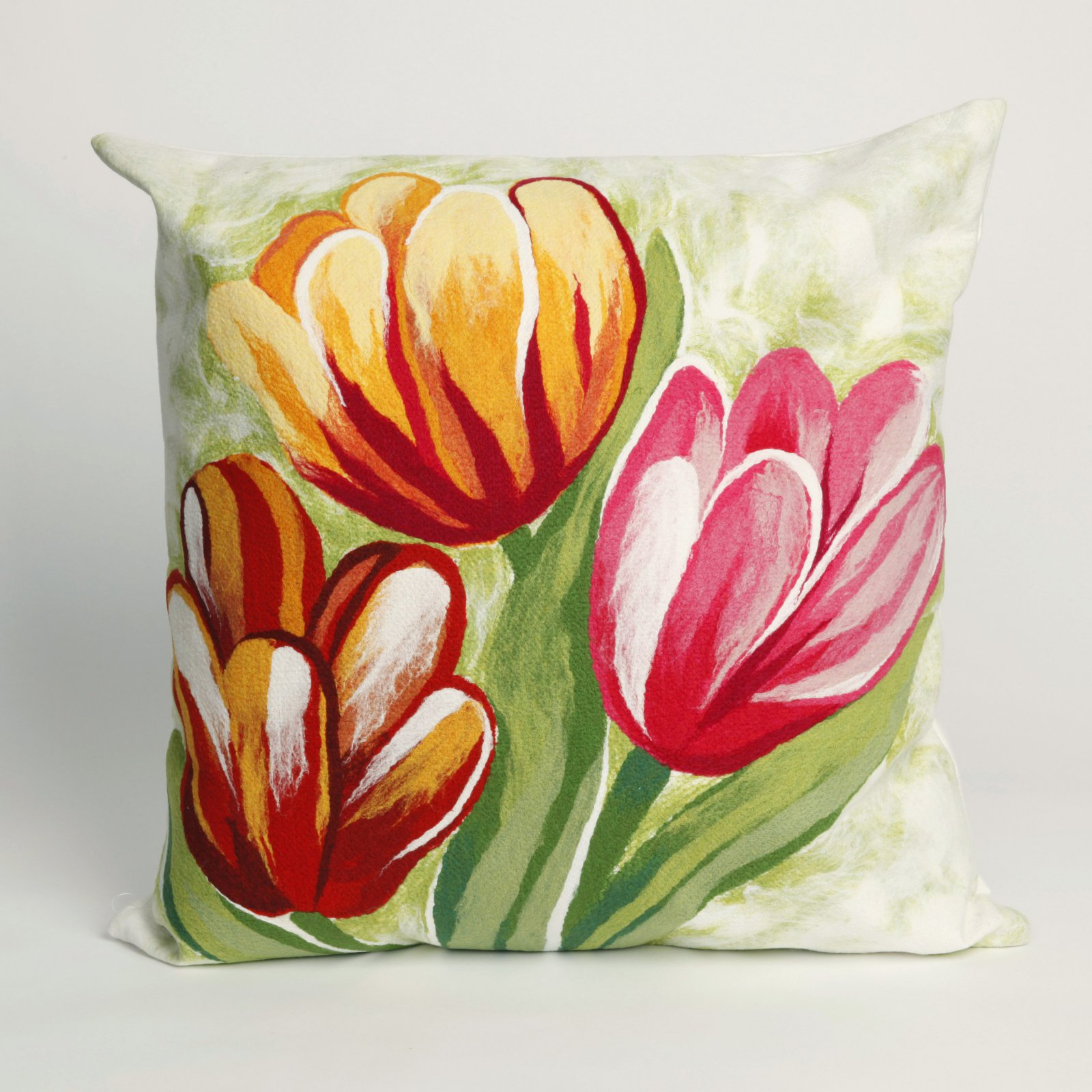 Liora Manne Tulips Indoor / Outdoor Throw Pillow