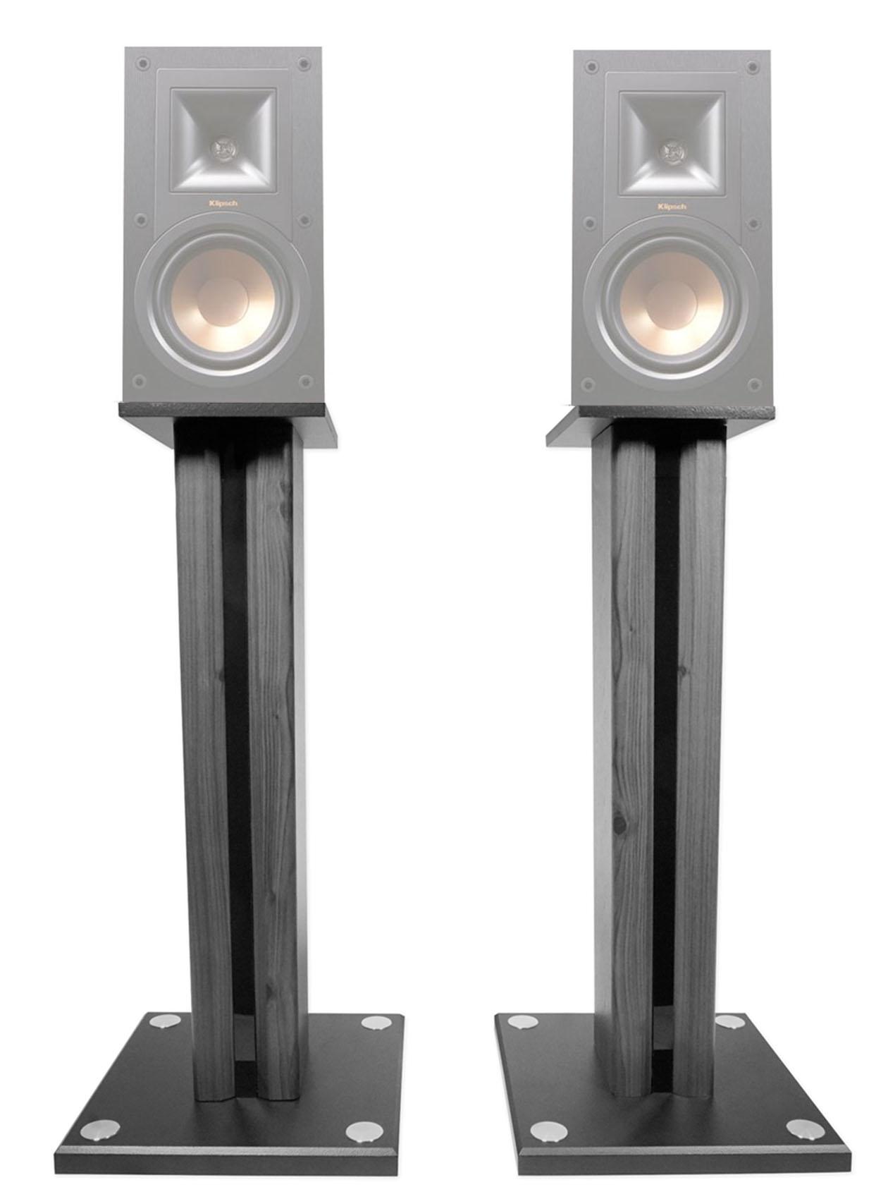 """Pair 26"""" Bookshelf Speaker Stands For Klipsch R-15M Bookshelf Speakers by Technical Pro"""