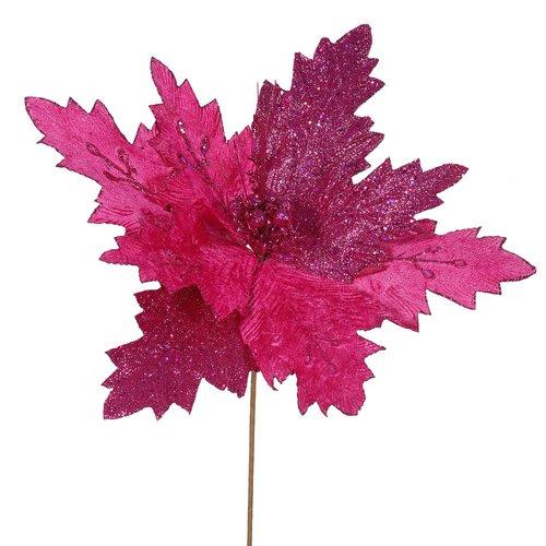 The Holiday Aisle Poinsettia Decorative Christmas Flower (Set of 6)