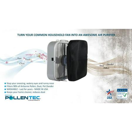 Pollentec Hypoallergenic Box Fan Filter Filters 98 Of