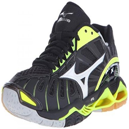 Mizuno Women's Wave Tornado X-W Volleyball Shoe, Black/Neon Yellow, 9.5 D US