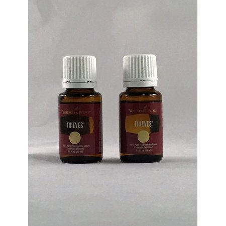 (2 bottle - Young Living - Thieves Essential Oils - Aromatherapy - Health Care)