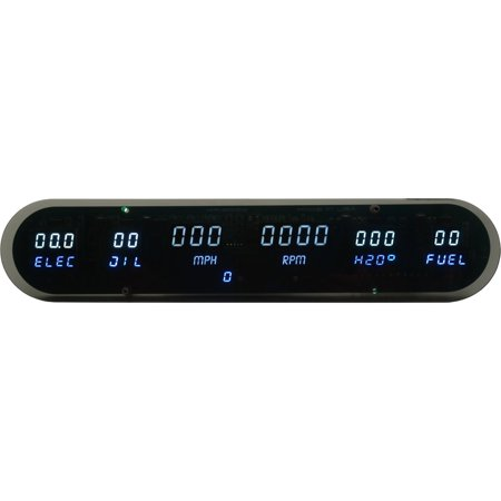 JEGS Performance Products 41635 6-Gauge Panel LED Digital Without Speedometer Se
