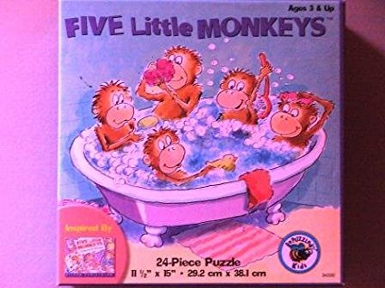 Five Little Monkeys Puzzle by (34330-1) By University Games Ship from US by