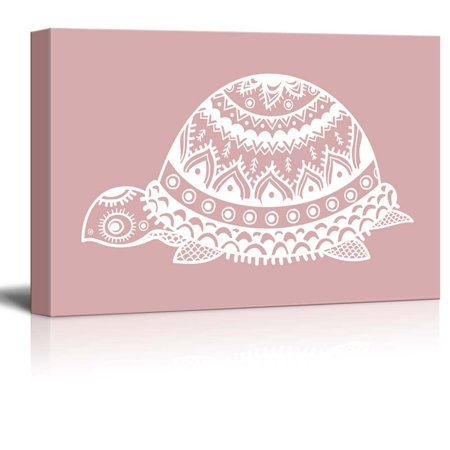Turtle Shell Decor (wall26 - Canvas Wll Art - Turtle with Beautiful Pattern on The Shell - Giclee Print and Stretched Gallery Wrap | Modern Home Decor Ready to Hang -)
