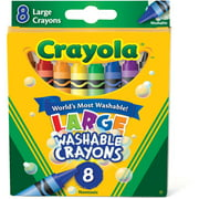 Crayola Large Washable Crayons, 8pk