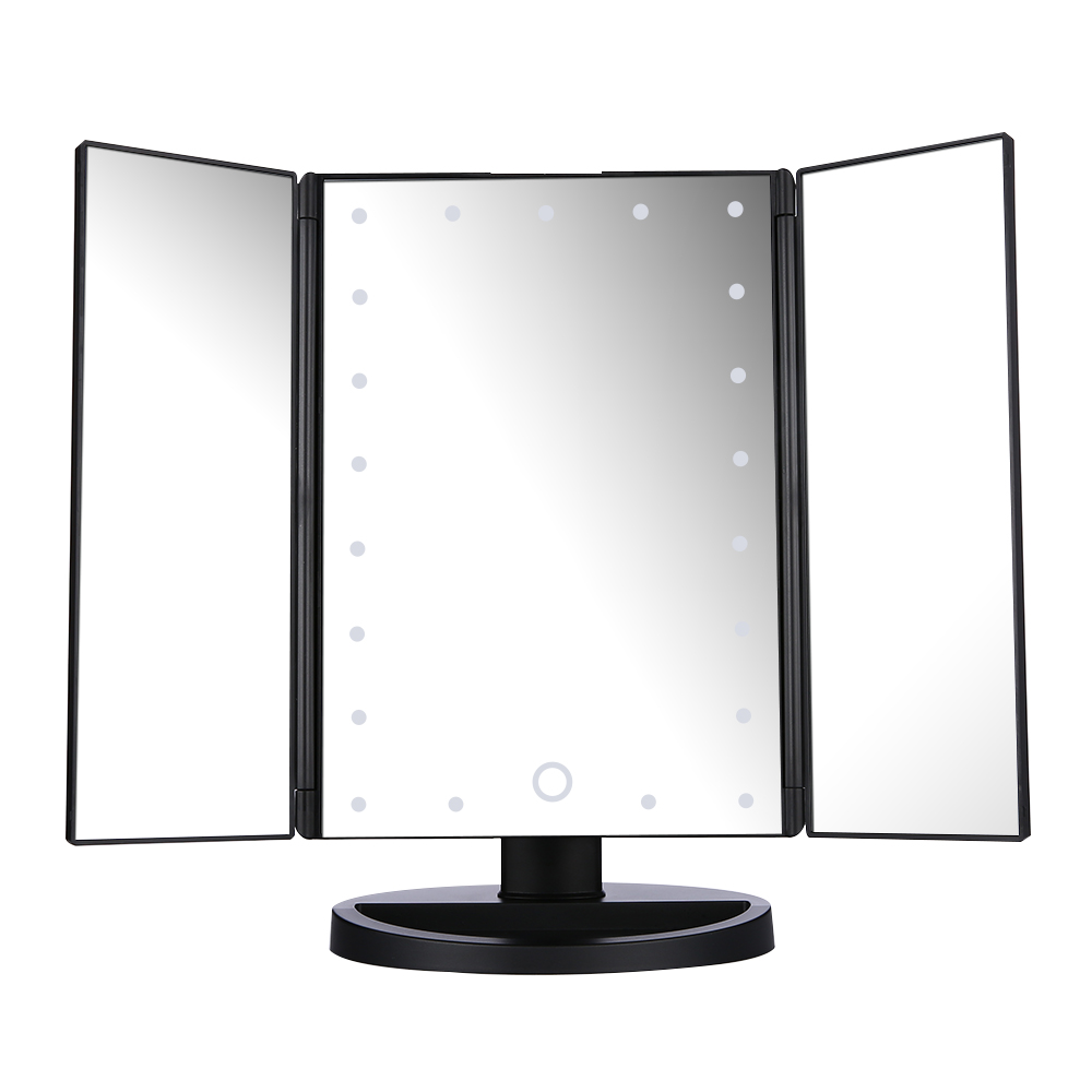 tri fold bathroom mirrors easehold led lighted vanity mirror make up tri fold with 21039