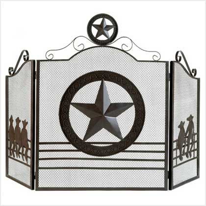 Home Locomotion Lone Star Fireplace Screen