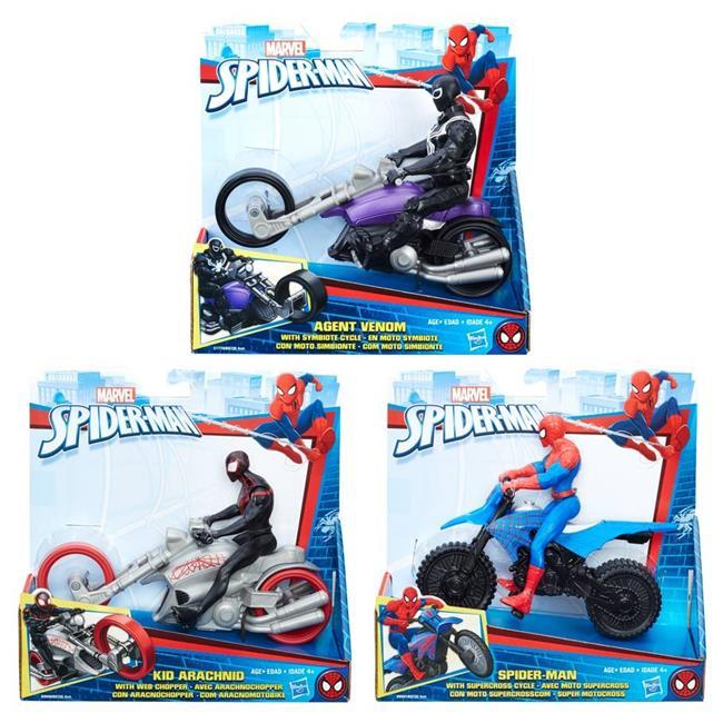 Hasbro HSBB9706 6 in. Spdier-Man Figure & Vehicles - Set ...
