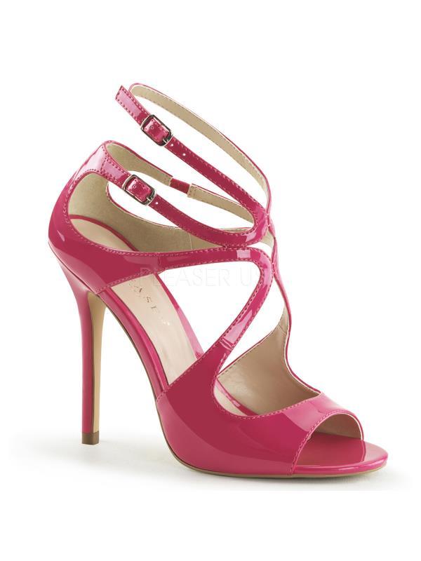 "AMU15/HP Pleaser Single Soles 5"" Heel Shoes HOT PINK Size: 13"