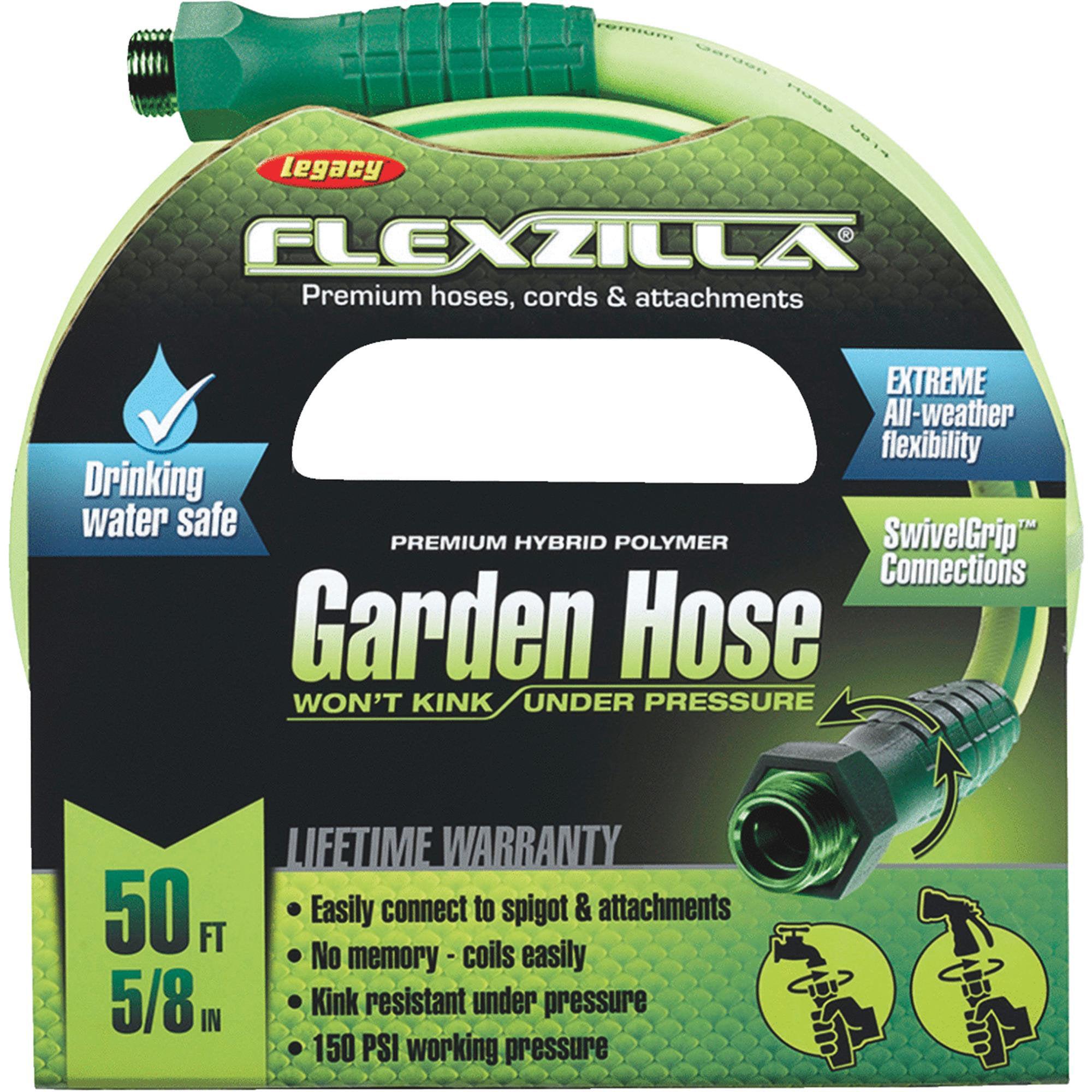 Flexzilla Garden Hose With SwivelGrip Connections by Flexzilla