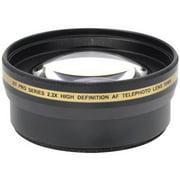 Xit Pro 2x Telephoto Lens Converter - 58mm threading (Black)