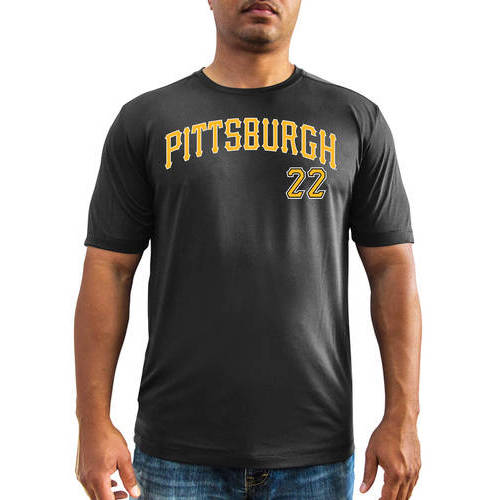 MLB - Big Mens Pittsburgh Pirates Andrew Mccutchen Short Sleeve Synthetic Player Tee