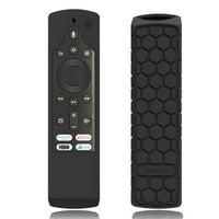 Fintie Silicone Case for Fire TV Edition Toshiba 4K Smart TV Voice Remote / Element Smart TV Voice Remote, Black