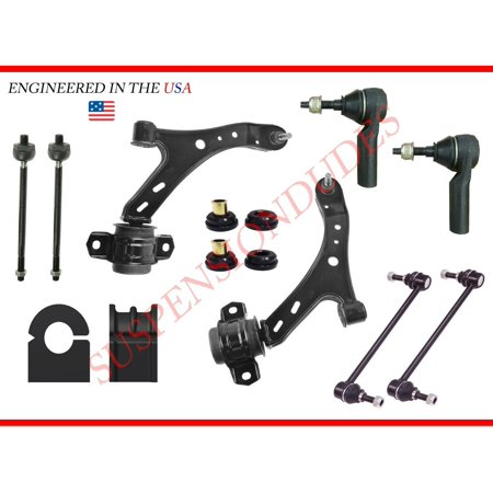 12PC FRONT SUSPENSION KIT TRACK BAR BUSHINGS 05-10 FORD MUSTANG GT/CONVERTIBLE Suspension Bushing Kits