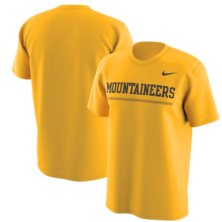 - West Virginia Mountaineers Nike Week Zero Trainer Hook Performance T-Shirt - Gold