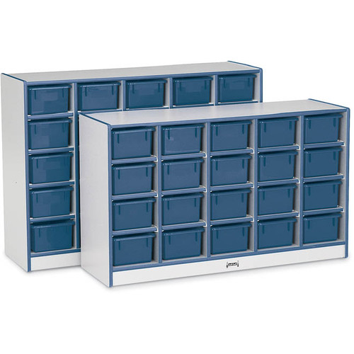 25 Tray Mobile Cubbie With Trays-Color:Green