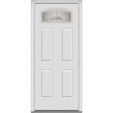 Verona Home Design Primed Fiberglass Prehung Front Entry Door