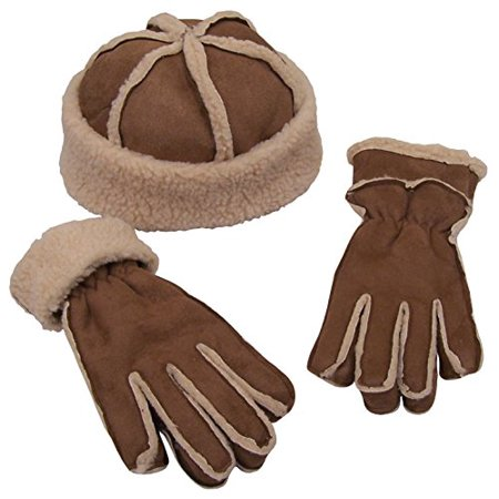 4f768e597dc N ICE - N Ice Caps Womens Micro Fiber With Full Sherpa Lining Hat And Glove  Set (One size fits Womens