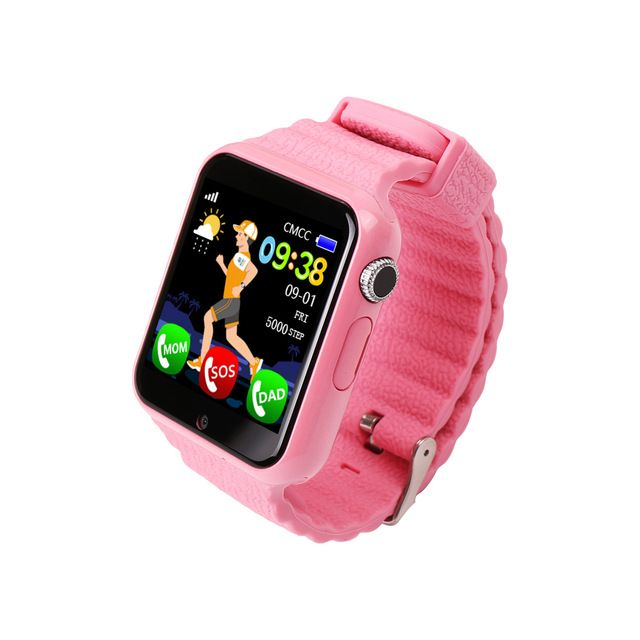 LEMFO V7K Children Smart Watch Security Safety Monitor Anti Lost GPS Location Positioning Tracker Display Screen Waterproof