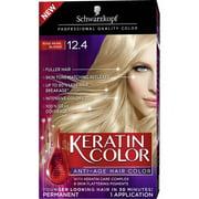 Schwarzkopf Keratin Color Anti-Age Hair Color Kit, 12.4 Rose Pearl Blonde