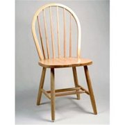 Alston Quality 3634-Natural-White Windsor Side Chair